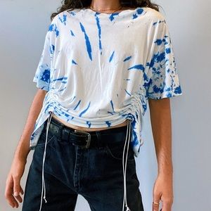urban outfitters ruched tie-dye tee